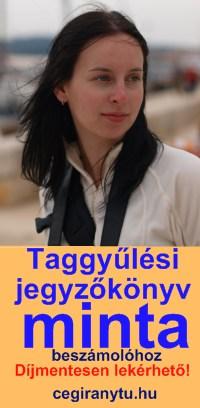 Taggyûlési jegyzõkönyv minta beszámoló elfogadásához. Díjmentesen lekérhetõ!